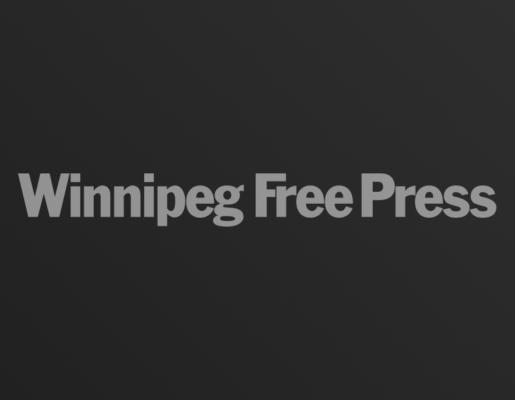 Winnipeg Free Press logo on dark gradient background