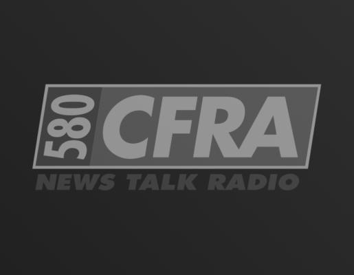 CFRA 580 logo on dark gradient background