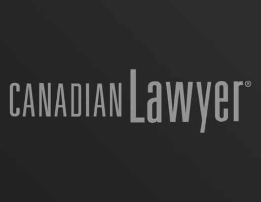 Canadian Lawyer logo on dark gradient background