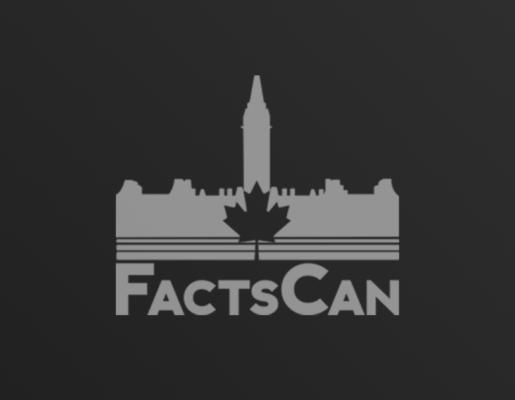 FactsCan logo on dark gradient background