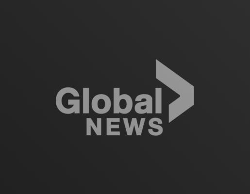 Global News logo on dark gradient background