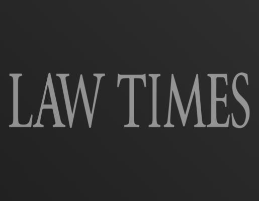 Law Times logo on dark gradient background