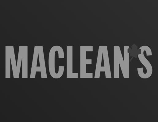 Maclean's logo on dark gradient background