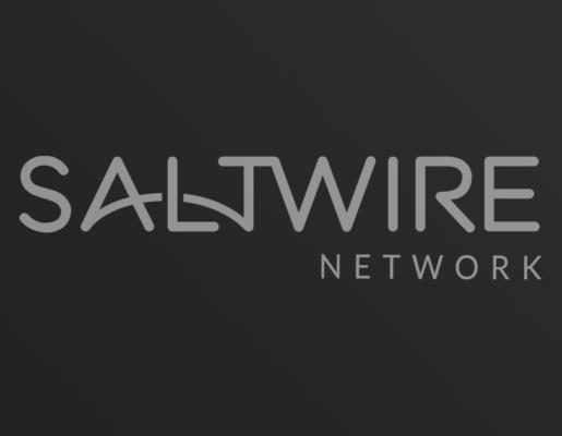 SaltWire Network logo on dark gradient background