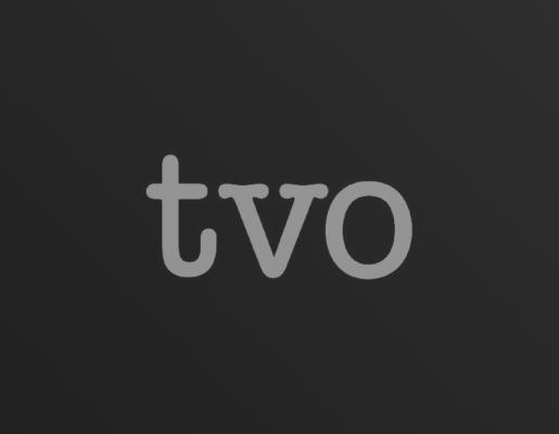 TVO logo on dark gradient background
