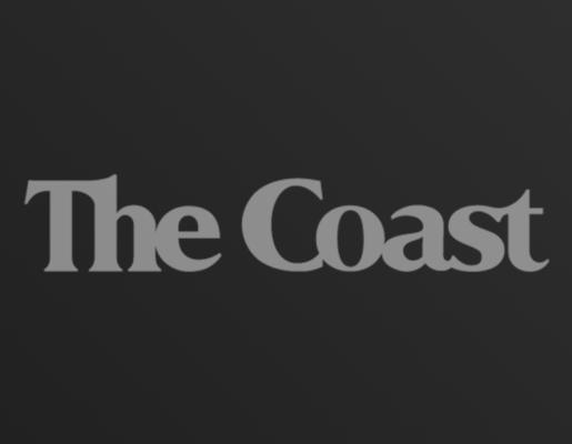 The Coast logo on dark gradient background