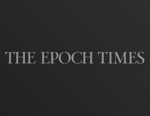 The Epoch Times logo on dark gradient background