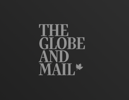 The Globe and Mail logo on dark gradient background