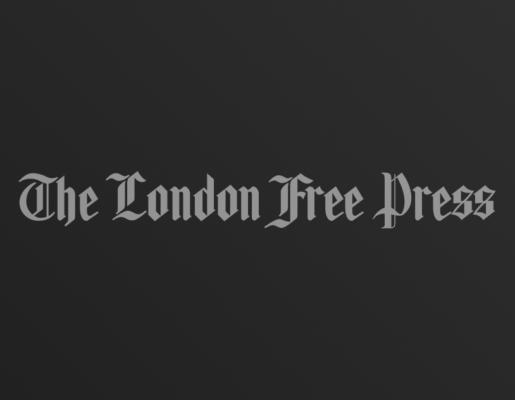 The London Free Press logo on dark gradient background