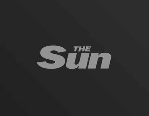 The Sun logo on dark gradient background
