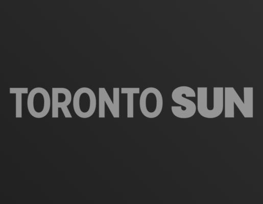 Toronto Sun logo on dark gradient background