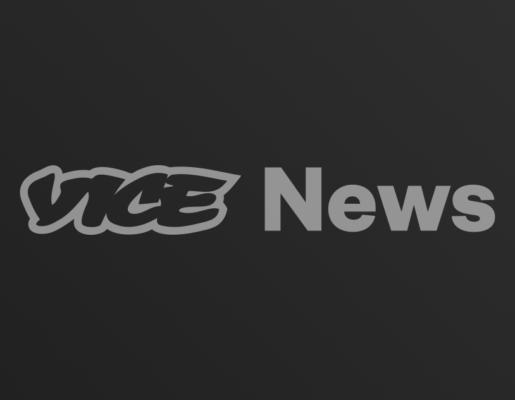 Vice News logo on dark gradient background